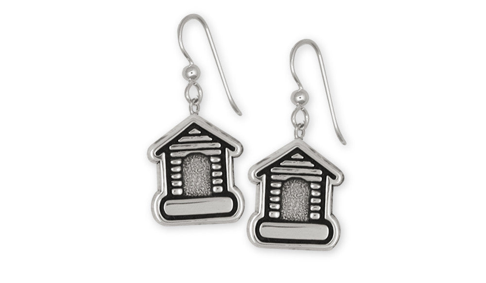 Dog House Charms Dog House Earrings Sterling Silver Dog Jewelry Dog House jewelry