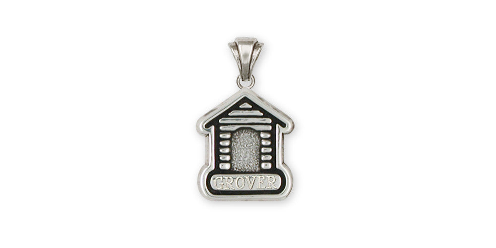Dog House Charms Dog House Pendant Sterling Silver Dog Jewelry Dog House jewelry