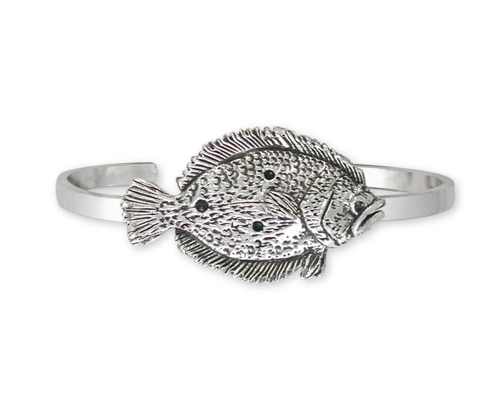 Flounder Charms Flounder Bracelet Sterling Silver Fish Jewelry Flounder jewelry
