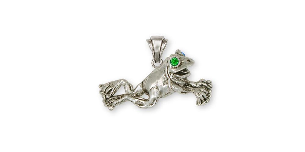 Frog frog pendant sterling silver esquivel and fees handmade frog charms frog pendant sterling silver frog jewelry frog jewelry mozeypictures Image collections