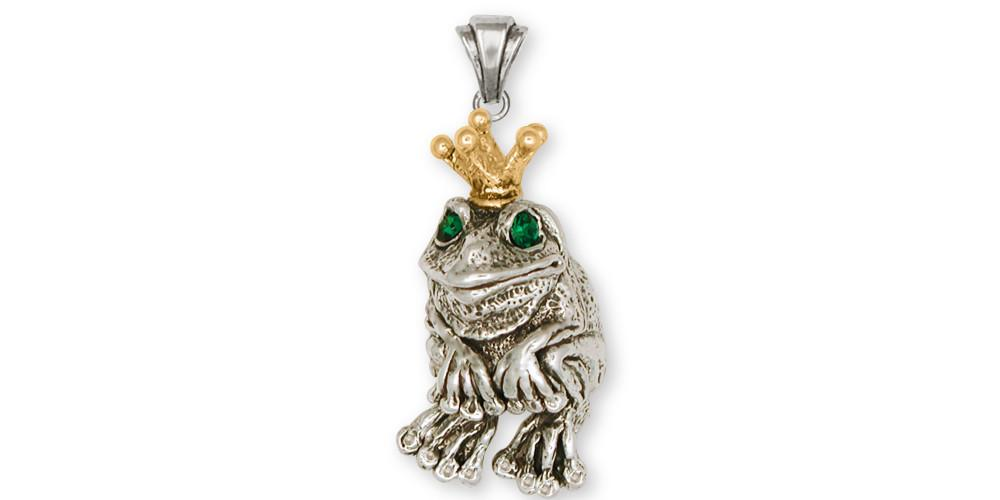 Frog frog pendant silver and gold esquivel and fees handmade frog charms frog pendant silver and gold frog jewelry frog jewelry mozeypictures Image collections