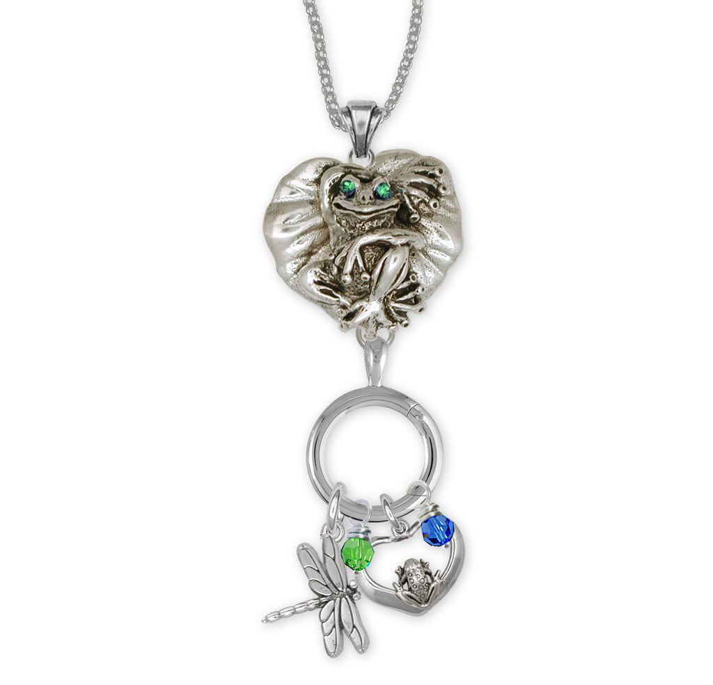 Frog Charms Frog Necklace Sterling Silver Frog Jewelry Frog jewelry
