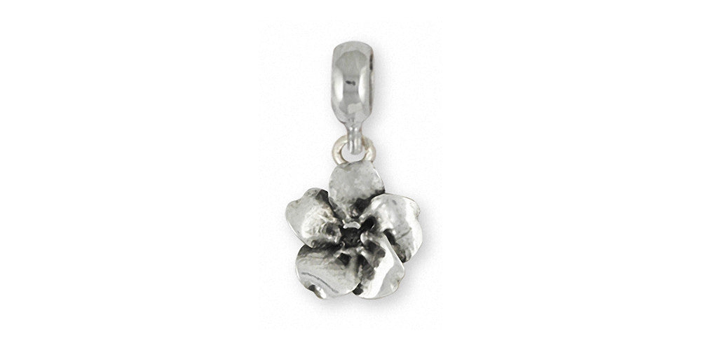 Forget Me Not Charms Forget Me Not Charm Slide Sterling Silver Flower Jewelry Forget Me Not jewelry