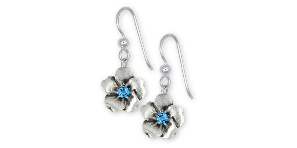 Forget Me Not Charms Forget Me Not Earrings Sterling Silver Forget Me Not Birthstone Jewelry Forget Me Not jewelry