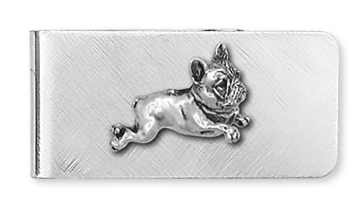 French Bulldog Money Clip  Sterling Silver And Nickel Dog Jewelry FR1-MC