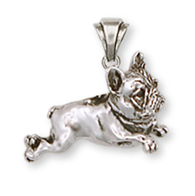 French Bulldog Pendant Handmade Sterling Silver Dog Jewelry FR1-P
