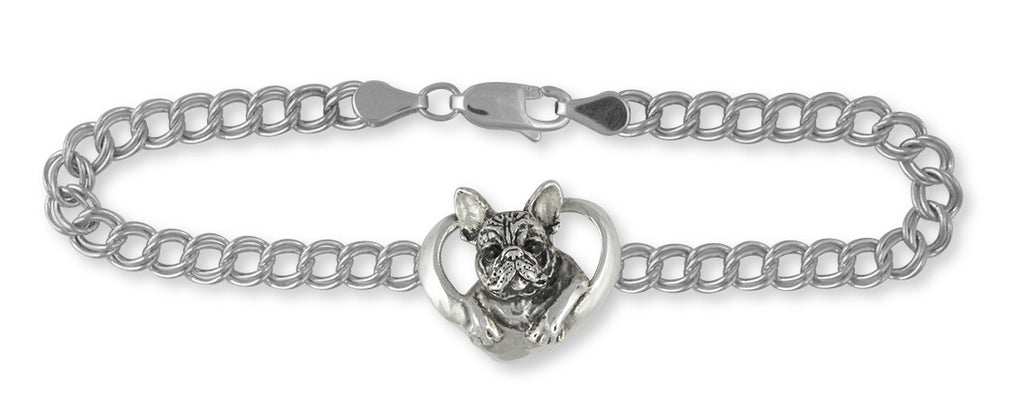 French Bulldog Bracelet Handmade Sterling Silver Dog Jewelry FR10-B