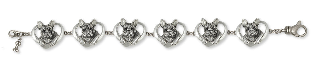 French Bulldog Bracelet Handmade Sterling Silver Dog Jewelry FR10-BR