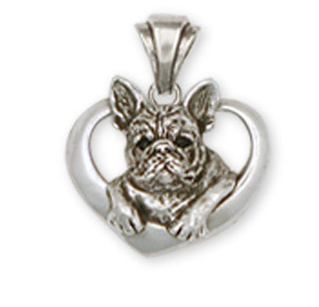 French Bulldog Pendant Handmade Sterling Silver Dog Jewelry FR10-P