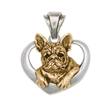 French Bulldog Pendant 14k Gold Vermeil Dog Jewelry FR10-PVM