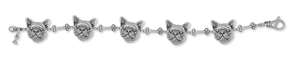 French Bulldog Bracelet Handmade Sterling Silver Dog Jewelry FR11-BR