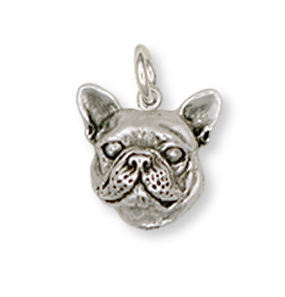 French Bulldog Charm Handmade Sterling Silver Dog Jewelry FR11-C