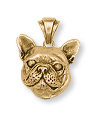 French Bulldog Pendant 14k Yellow Gold Vermeil Dog Jewelry FR11-PVM