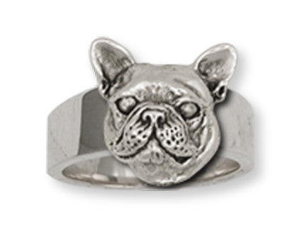French Bulldog Ring Handmade Sterling Silver Dog Jewelry FR11-R