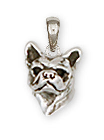 French Bulldog Pendant Handmade Sterling Silver Dog Jewelry FR12-P