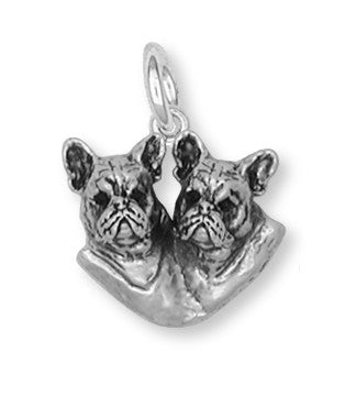 French Bulldog Charm Handmade Sterling Silver Dog Jewelry FR14-C
