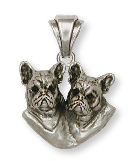 French Bulldog Pendant Handmade Sterling Silver Dog Jewelry FR14-P