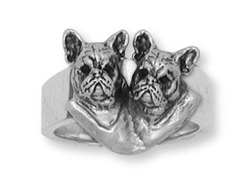 French Bulldog Ring Handmade Sterling Silver Dog Jewelry FR14-R