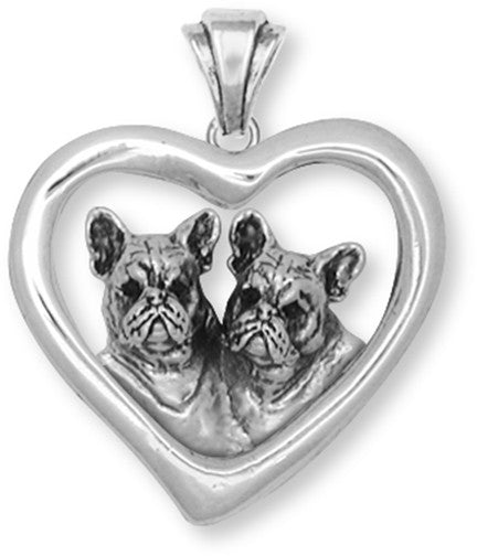 French Bulldog Pendant Handmade Sterling Silver Dog Jewelry FR14H-P