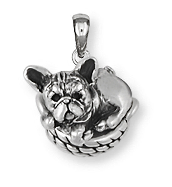 French Bulldog Pendant Handmade Sterling Silver Dog Jewelry FR15-P