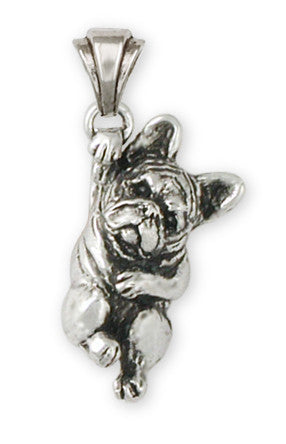 French Bulldog Pendant Handmade Sterling Silver Dog Jewelry FR16-P