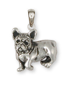 French Bulldog Pendant Handmade Sterling Silver Dog Jewelry FR17-P