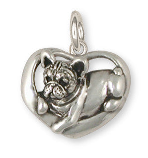 French Bulldog Charm Handmade Sterling Silver Dog Jewelry FR18-C