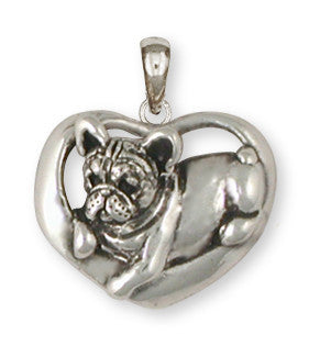 French Bulldog Pendant Handmade Sterling Silver Dog Jewelry FR18-P