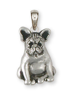 French Bulldog Pendant Handmade Sterling Silver Dog Jewelry FR19-P