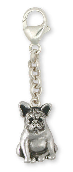 French Bulldog Zipper Pull Handmade Sterling Silver Dog Jewelry FR19-ZP
