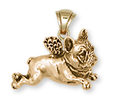 French Bulldog Pendant 14k Gold Vermeil Dog Jewelry FR1A-PVM