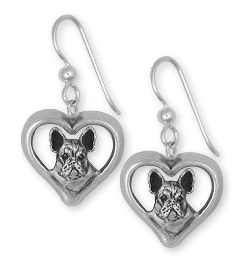 French Bulldog Earrings Handmade Sterling Silver Dog Jewelry FR20-E