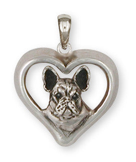 French Bulldog Pendant Handmade Sterling Silver Dog Jewelry FR20-P
