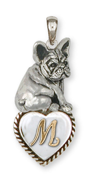 French Bulldog Personalized Pendant Handmade Sterling Silver Dog Jewelry FR21-TP