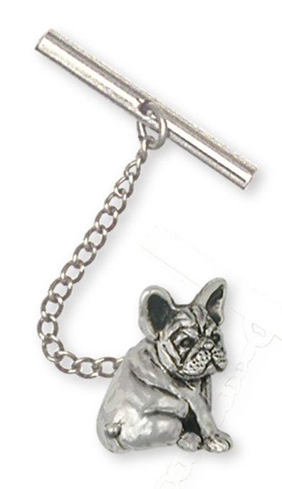 French Bulldog Tie Tack Handmade Sterling Silver Dog Jewelry FR21-TT