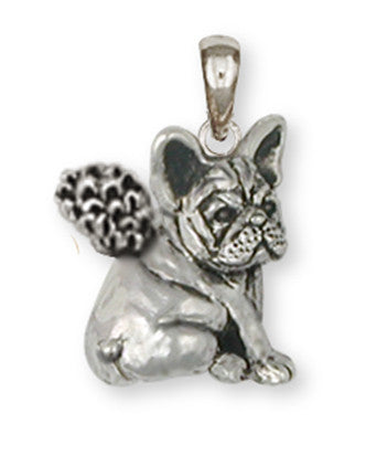 French Bulldog Angel Pendant Handmade Sterling Silver Dog Jewelry FR21A-P