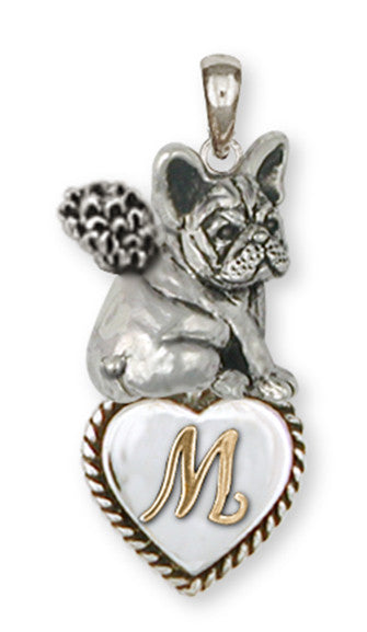 French Bulldog Angel Personalized Pendant Handmade Sterling Silver Dog Jewelry FR21A-TIP