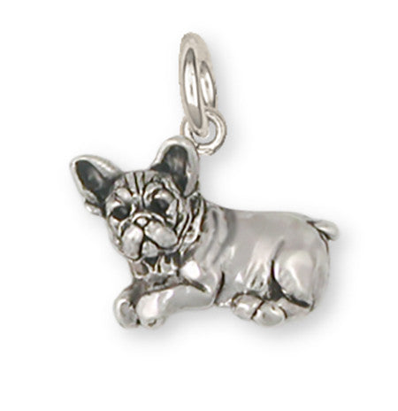 French Bulldog Charm Handmade Sterling Silver Dog Jewelry FR22-C