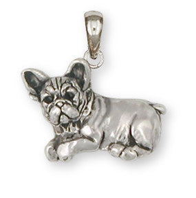 French Bulldog Pendant Handmade Sterling Silver Dog Jewelry FR22-P