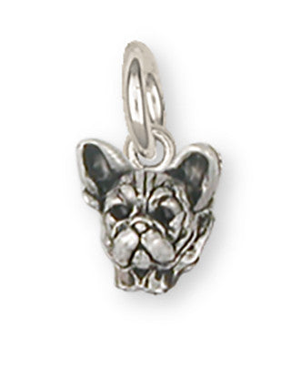 French Bulldog Charm Handmade Sterling Silver Dog Jewelry FR22H-C