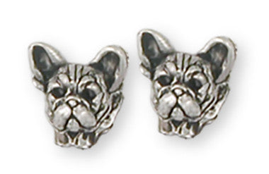 French Bulldog Earrings Handmade Sterling Silver Dog Jewelry FR22H-E