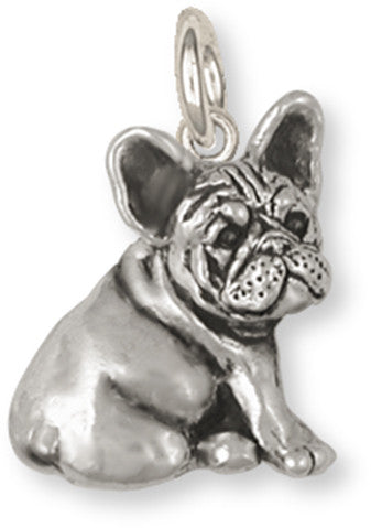French Bulldog Charm Handmade Sterling Silver Dog Jewelry FR23-C