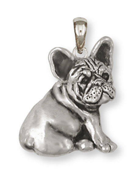 French Bulldog Pendant Handmade Sterling Silver Dog Jewelry FR23-P
