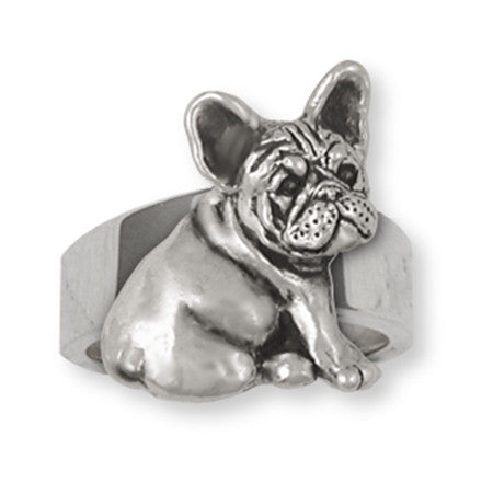French Bulldog Ring Handmade Sterling Silver Dog Jewelry FR23-R