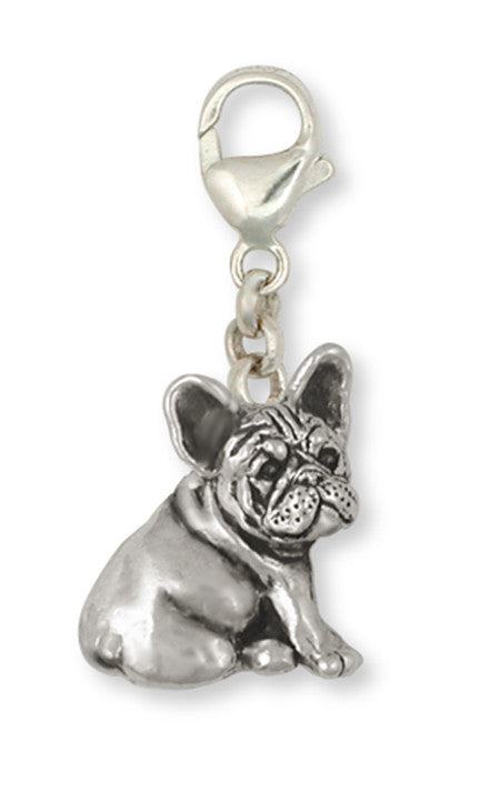 French Bulldog Zipper Pull Handmade Sterling Silver Dog Jewelry FR23-ZP