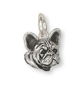 French Bulldog Charm Handmade Sterling Silver Dog Jewelry FR23H-C