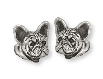 French Bulldog Earrings Handmade Sterling Silver Dog Jewelry FR23H-E