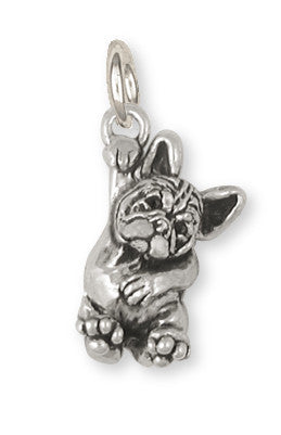 French Bulldog Charm Handmade Sterling Silver Dog Jewelry FR24-C