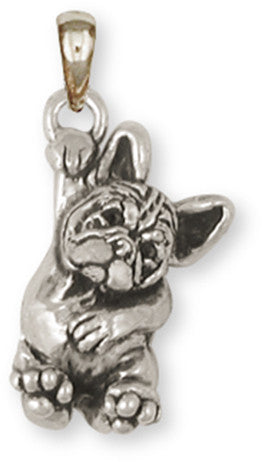 French Bulldog Pendant Handmade Sterling Silver Dog Jewelry FR24-P