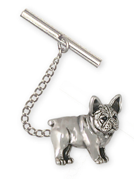 French Bulldog Tie Tack Handmade Sterling Silver Dog Jewelry FR25-TT